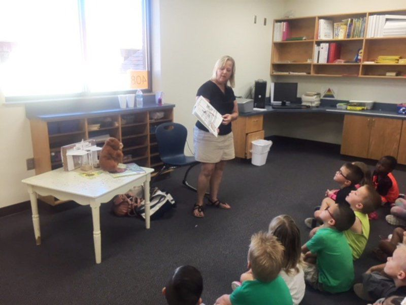 AECC kids get a visit from their local librarian