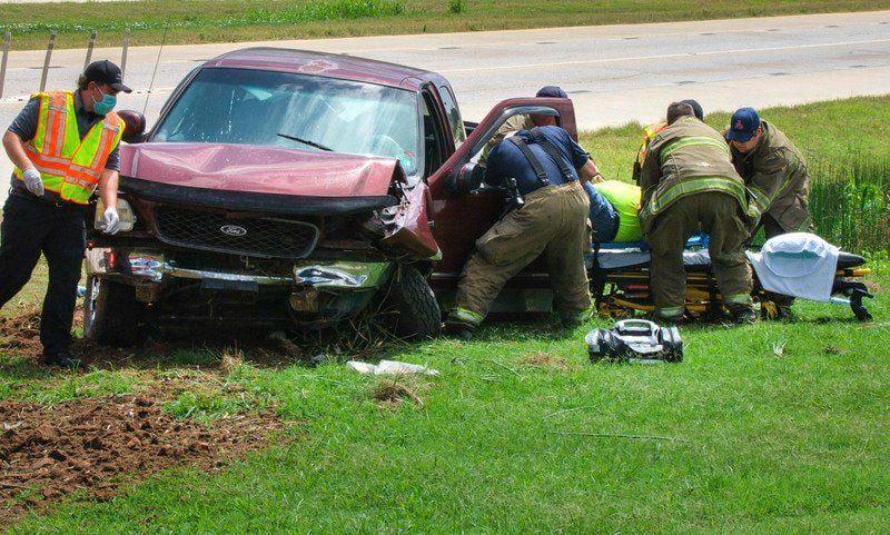 Man injured in single-vehicle crash Wednesday