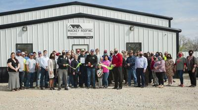 Chamber welcomes Mackey Roofing's new facility