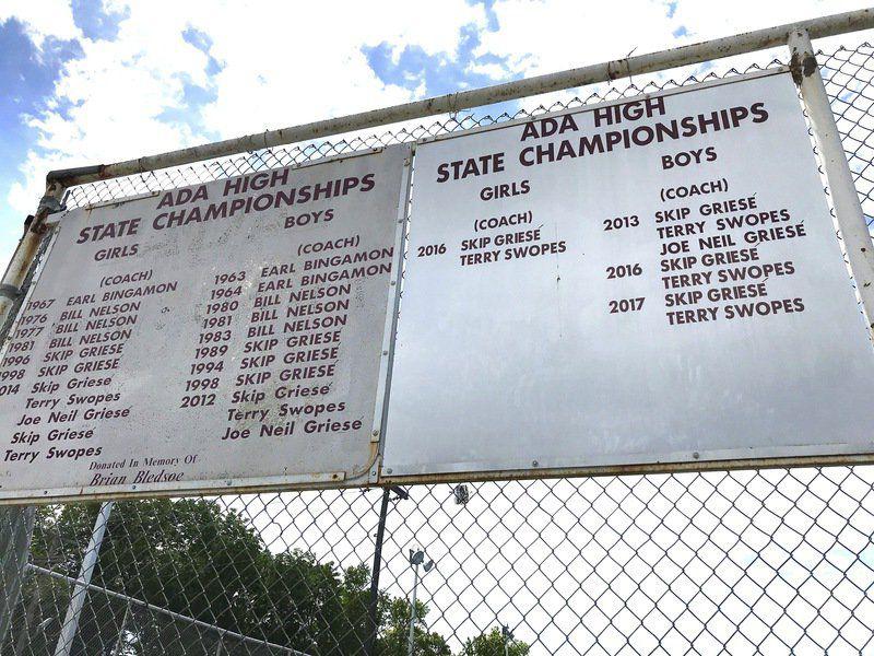 Ada Tennis Center sign