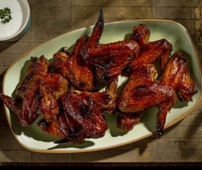 Hot-honey chicken wings