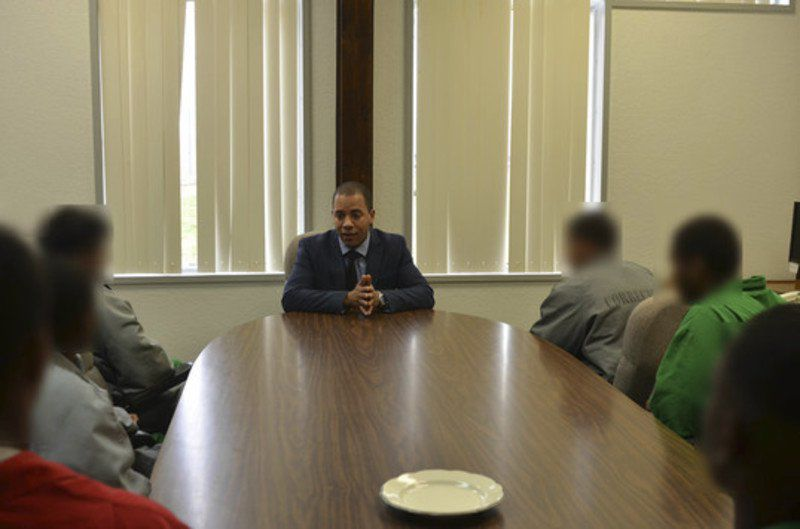Ex-youthful offender speaks to ODOC staff and Joseph Harp youthful inmates