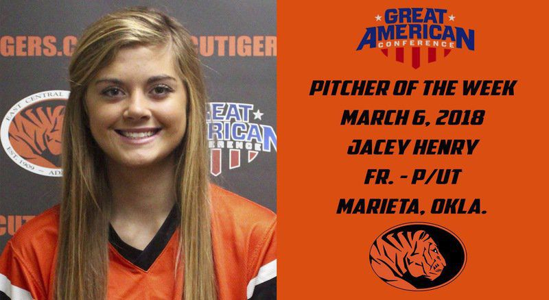 ECU's Henry named pitcher of the week