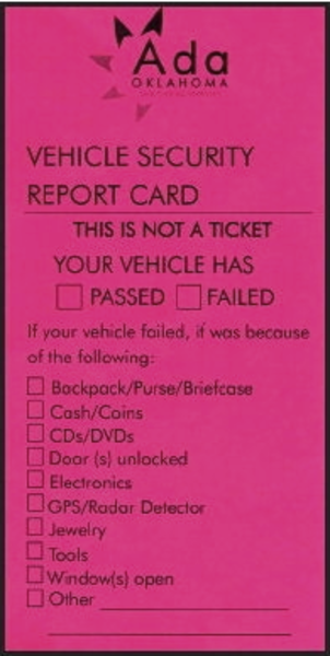 On this day in 2014, Ada police planned to pass out report cards