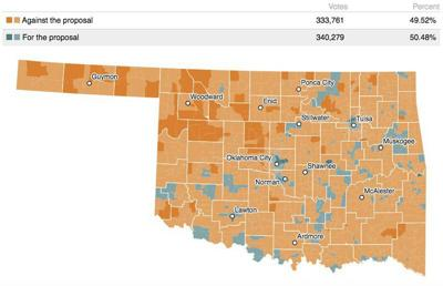 How Oklahoma voted on medicaid expansion
