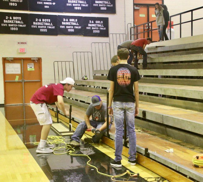 Konawa High School students are hands-on with the new gym improvements
