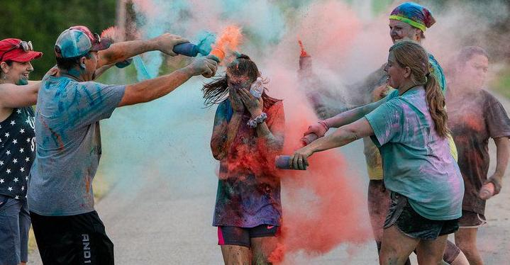 Vanoss marks return to school with color run and block party