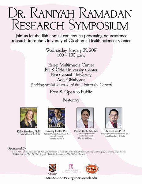 Fifth annual Dr. Raniyah C. Ramadan Symposium set for Wednesday