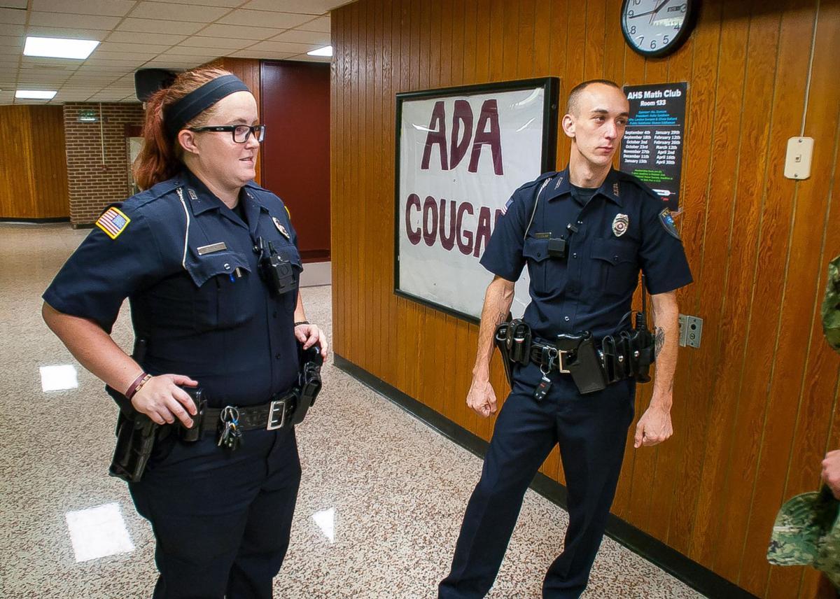 Ada Police officers Taylor Lowe and David Cowan