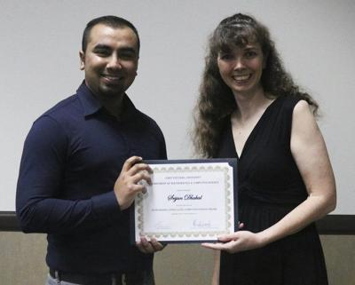 Dhakal named outstanding computer science major at ECU