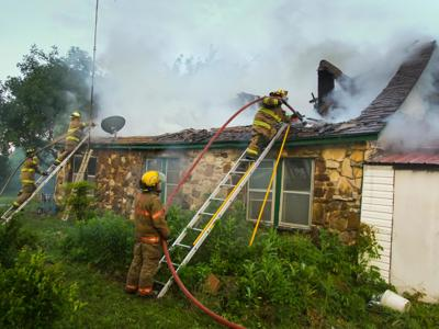 House fire in Center