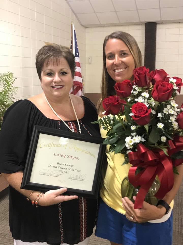Casey Taylor is Teacher of Year