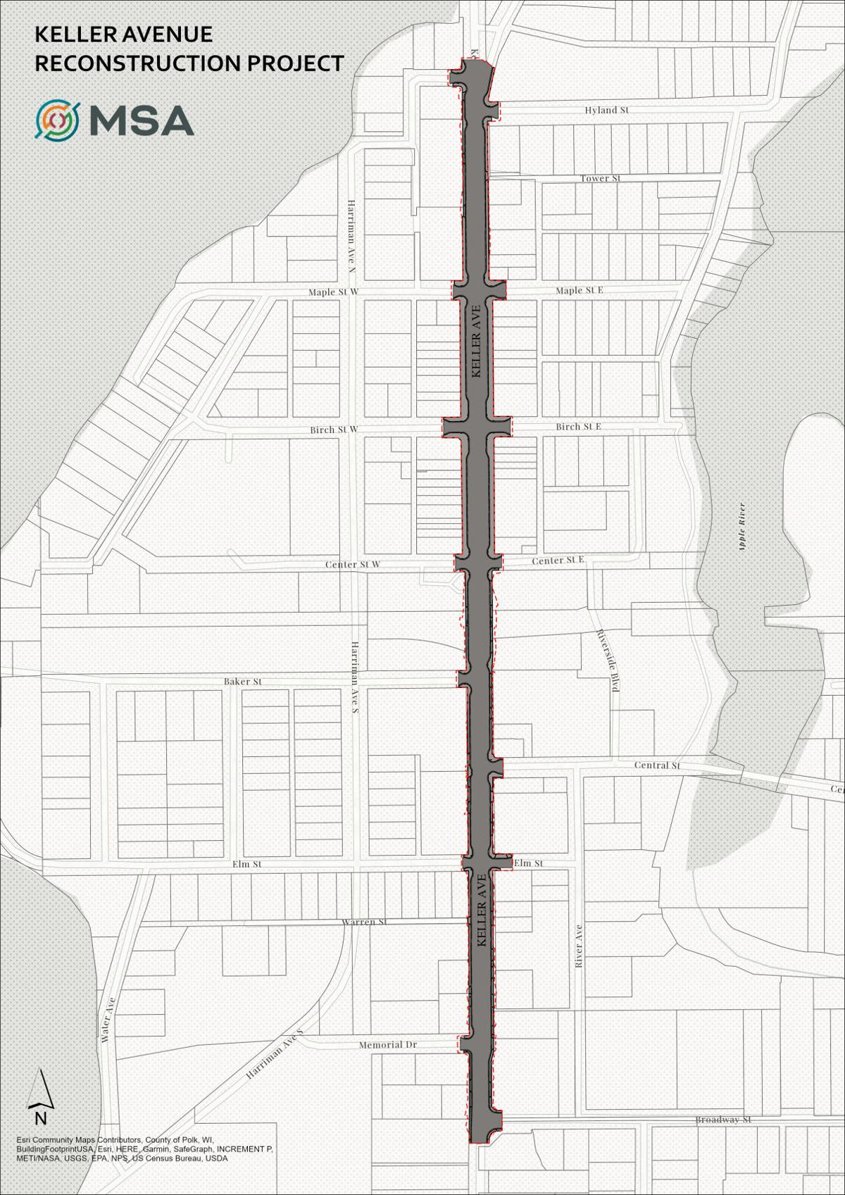 Keller Avenue Construction Map