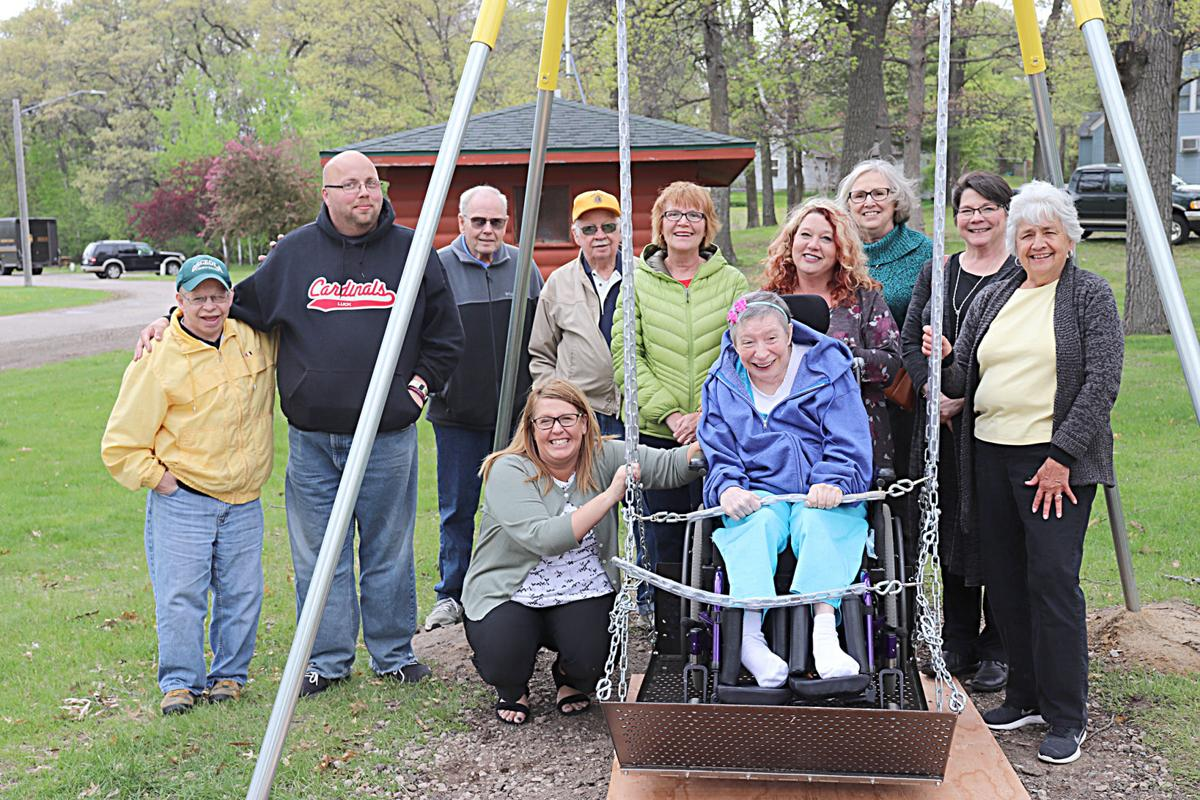 Ready to roll-handicap swing installed at park