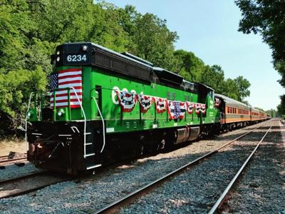 Osceola Train in Patriotic colors