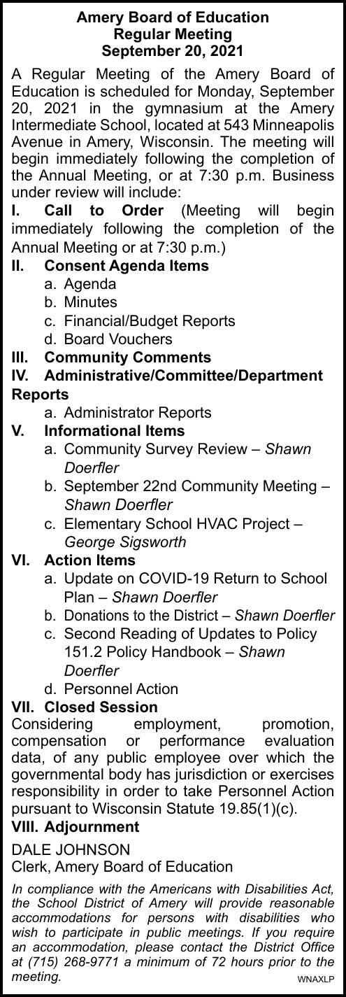 SDA - School Board Meeting