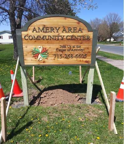 Amery Area Community Center Sign