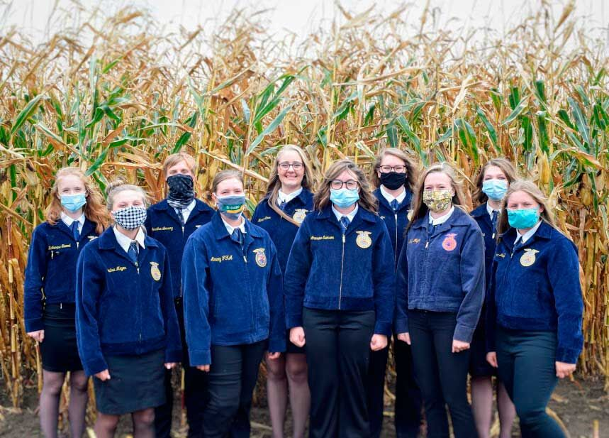 2020-2021 Amery FFA Chapter Officer Team