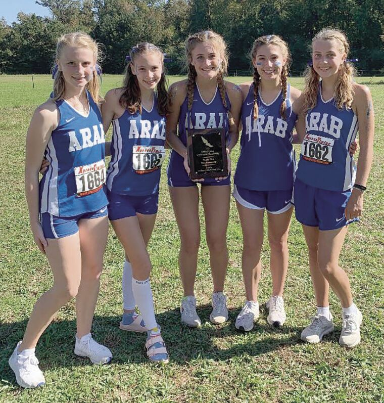 Cross country: Arab varsity girls take second at county meet