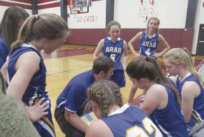 Arab 8th grade girls in Marshall Middle School Tournament