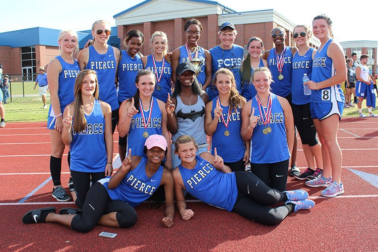 Shaw leads Lady Bears to track championship #1 4-27-16