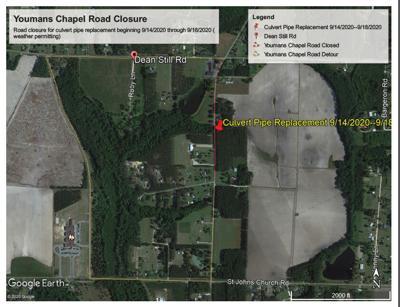 Youmans Chapel Rd. closure