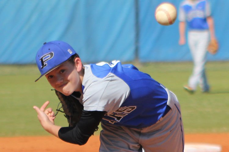 PCMS baseball championship hopes survive with win over Brantley County #1 3-30-16