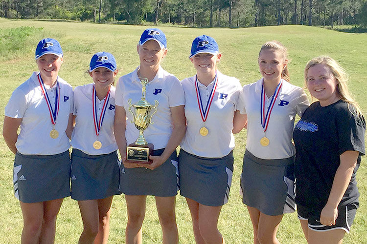 PCHS boys and girls golfers capture Region 1-AAA titles - girls 4-20-16