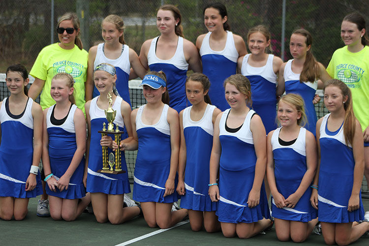 PCMS tennis squads finish second in finals 3-23-16 girls