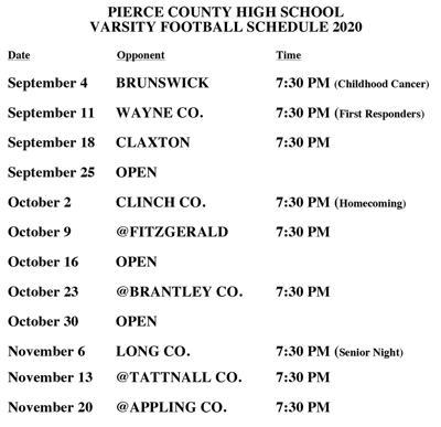 Varsity schedule