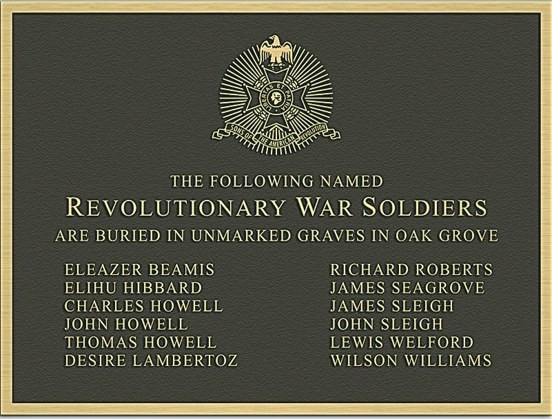 Names of American Revolution soldiers