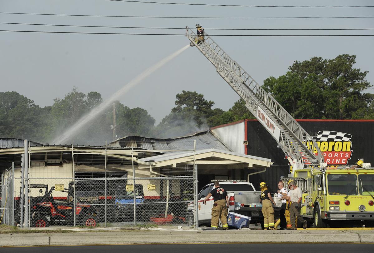 Massive fire destroys business on 341