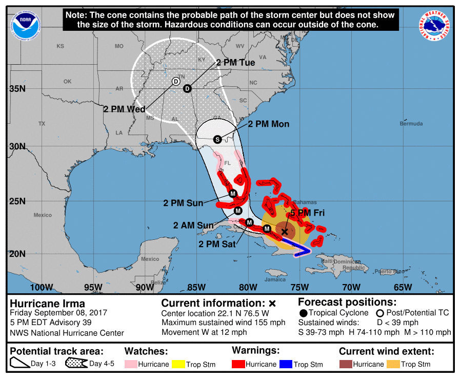 Irma weakens but 6.2 mn without power in Florida