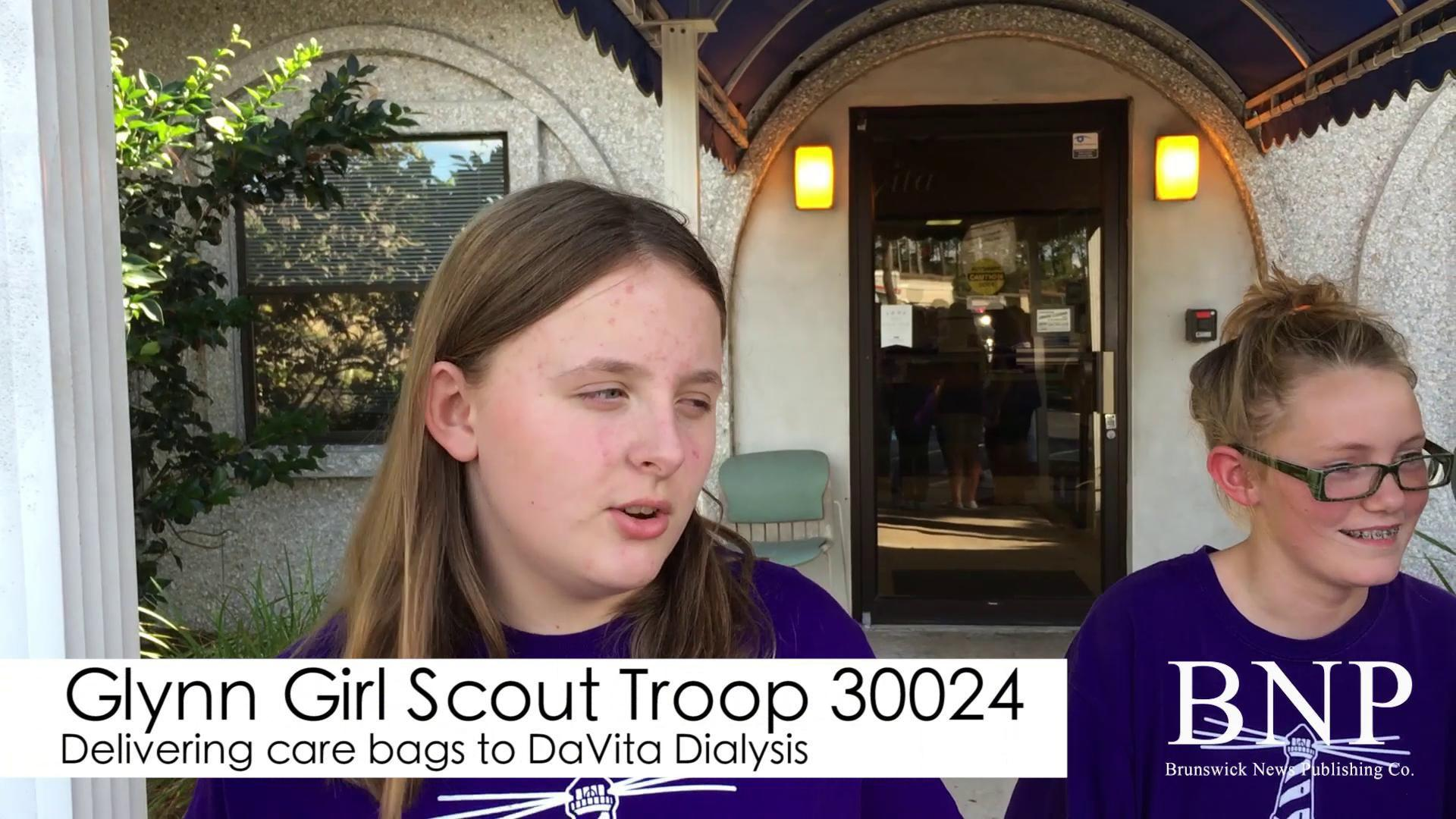 Girl scouts deliver care bags to DaVita Dialysis | | The
