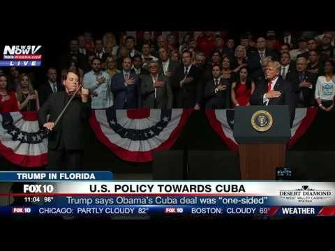 MUST WATCH: Luis Haza Plays National Anthem, Star-Spangled Banner on  Violin, at Trump Cuba Speech