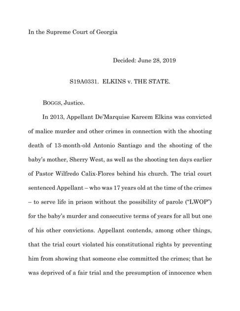 State Supreme Court sends Elkins murder case back to