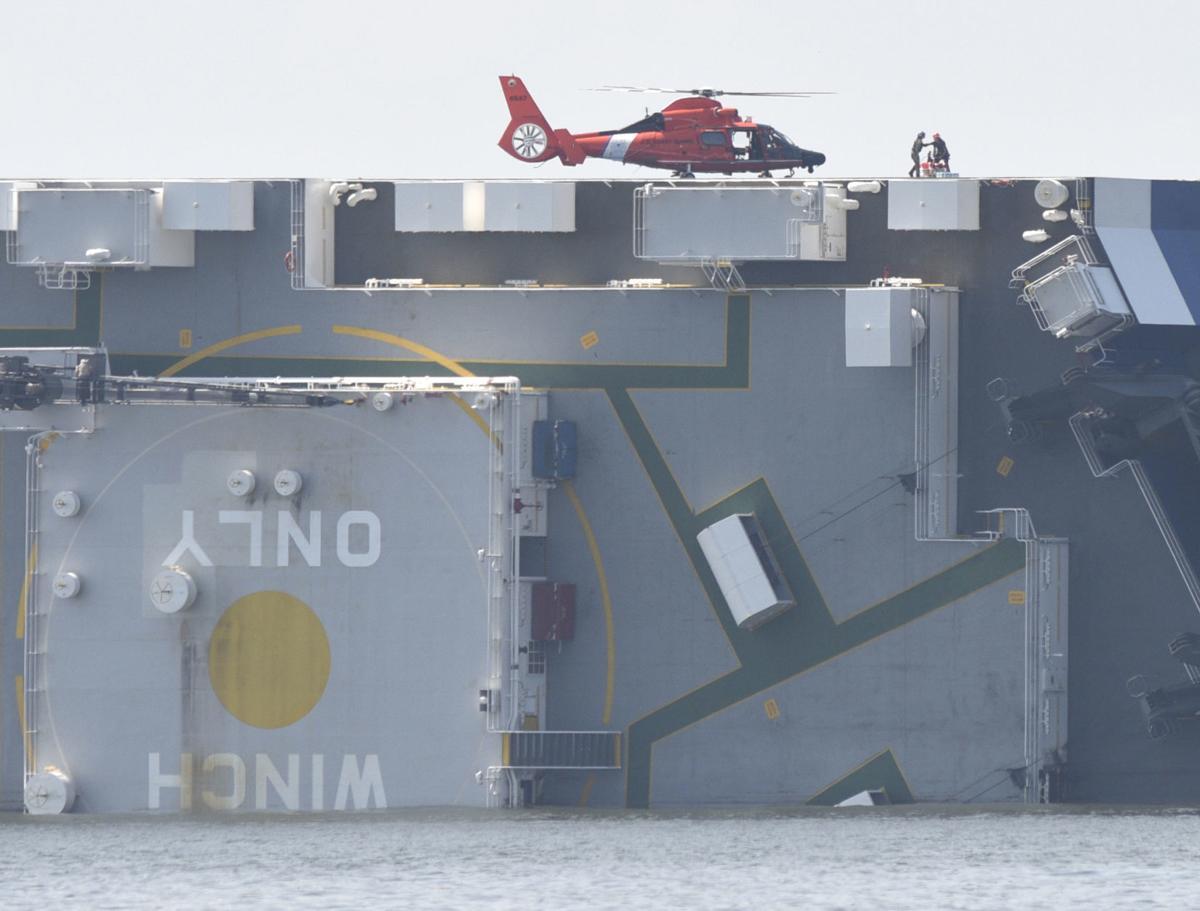 capsized ship