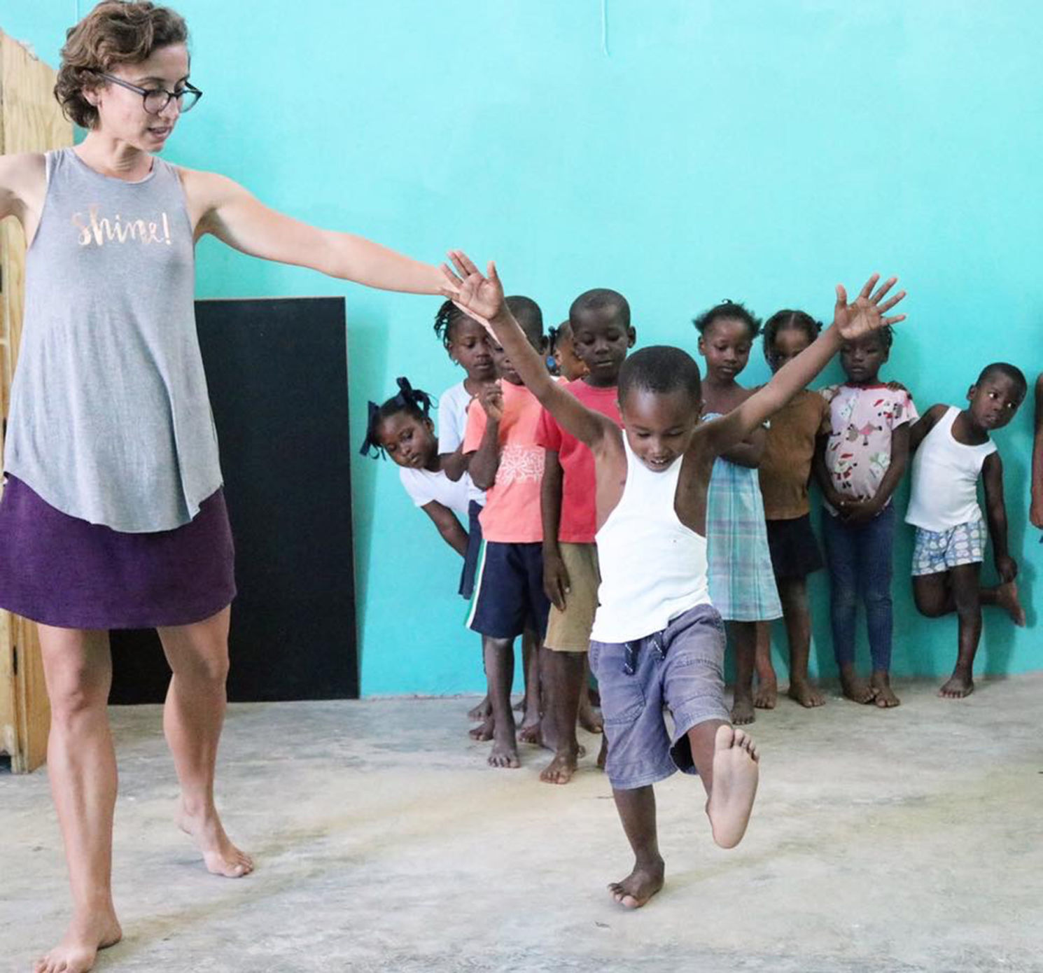 Caroline Poppell left teaches students at her dance school in Port-au-Prince Haiti through her mission Milk Carton on a String.  sc 1 st  The Brunswick News & Local missionary in middle of unrest in Haiti | Local News | The ...
