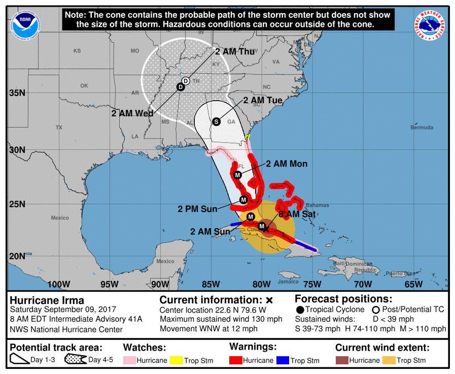 How will Hurricane Irma impact our area?