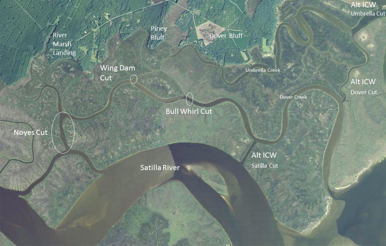 Noyes Cut map
