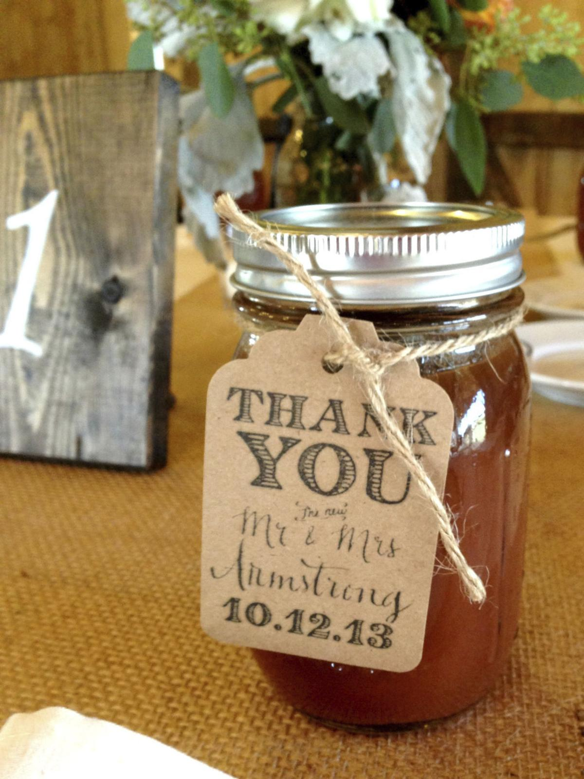 For wedding favors, personalize, localize, do it yourself ...