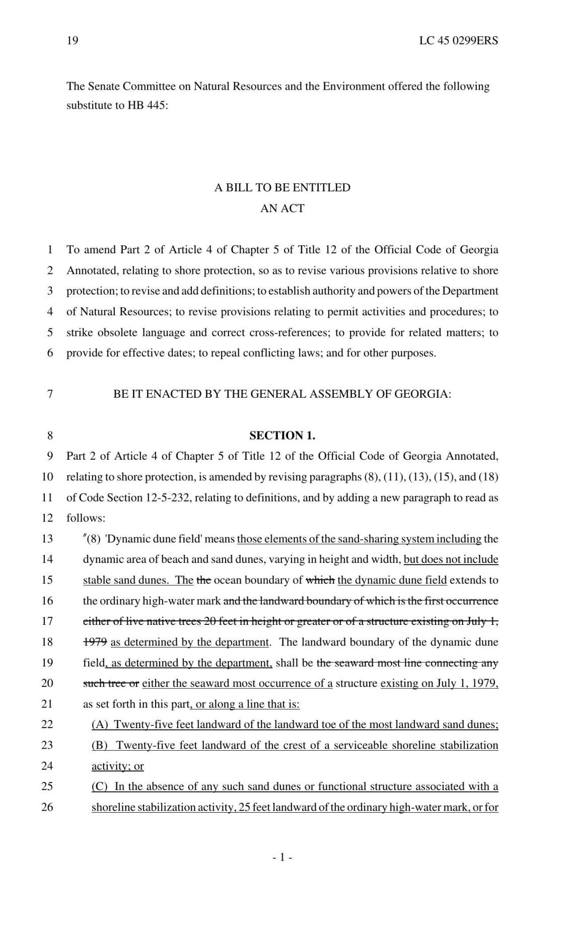 House Bill 445 (Committee Substitute)