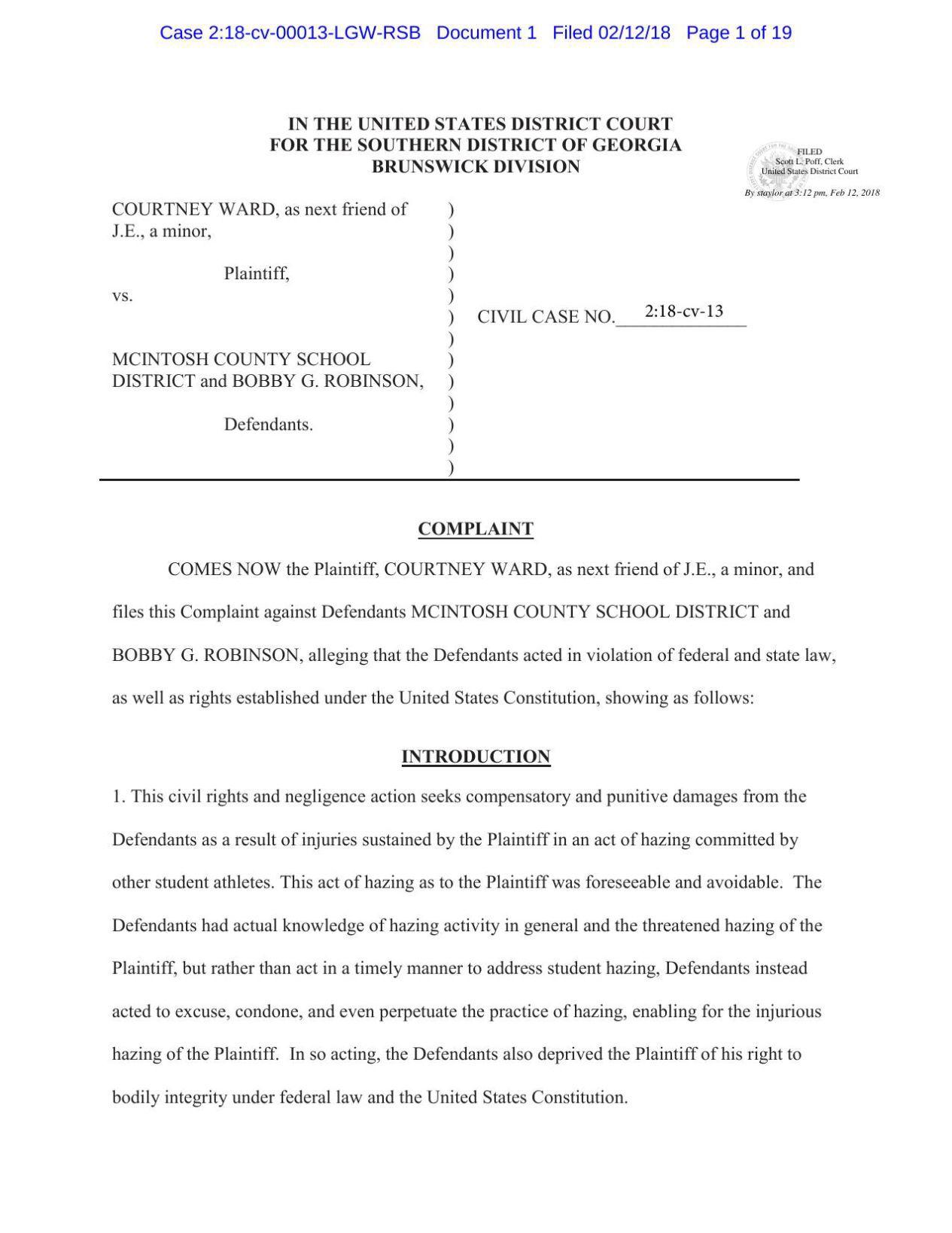 mcintosh county georgia divorce forms