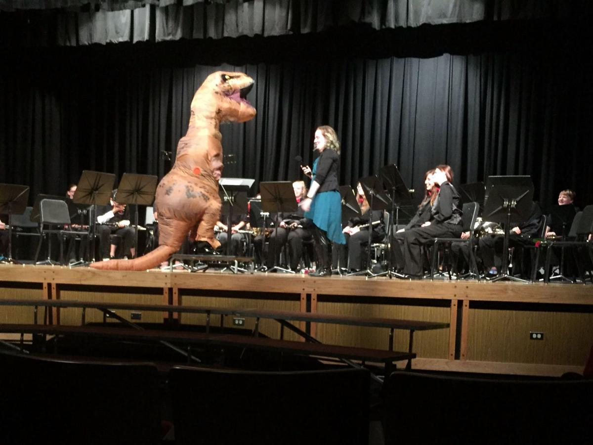 T-Rex conducts CMHS band