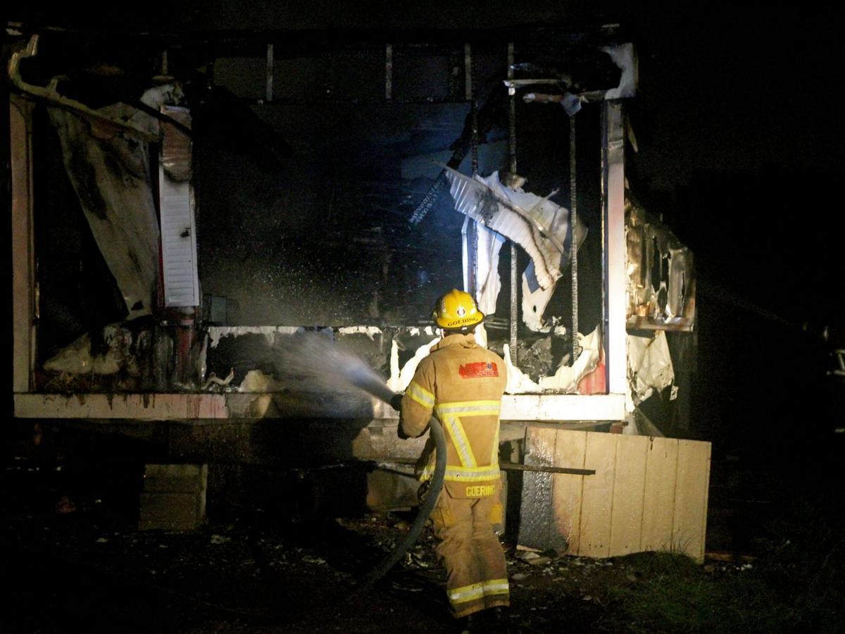 River's Edge fire burns out unit