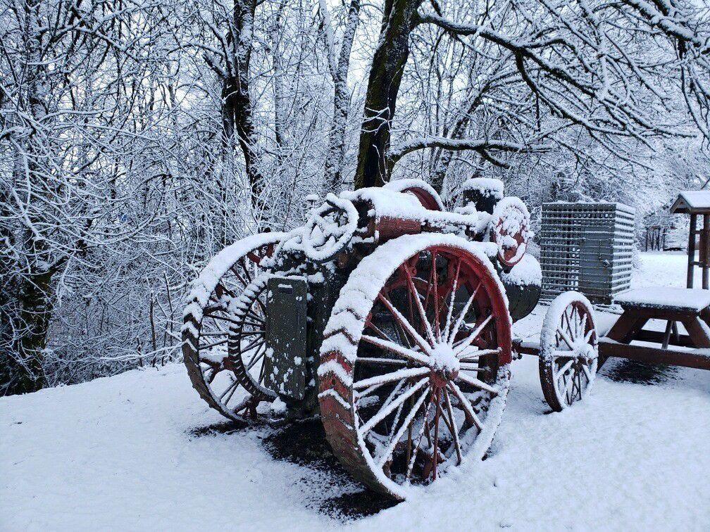 Snow Tractor in Vernonia