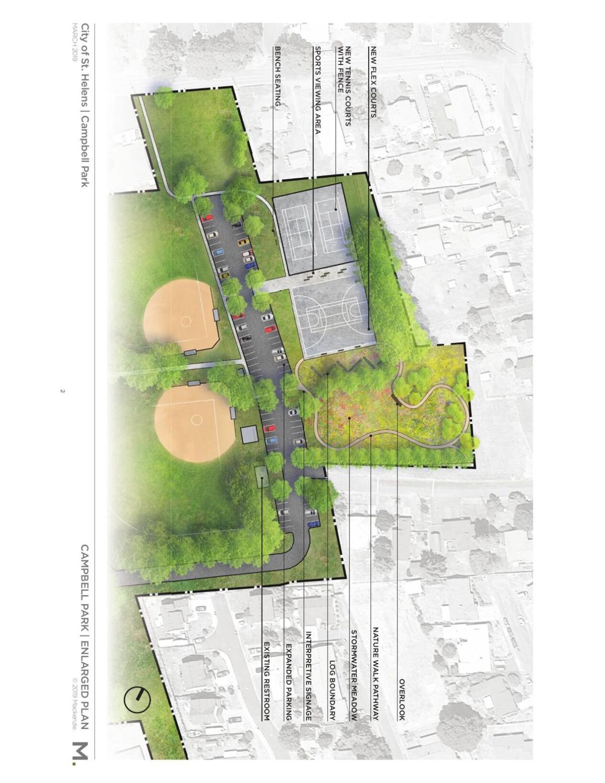 Campbell Park Sport Court Site Plan