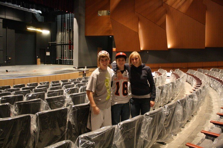 Students check out the new auditorium