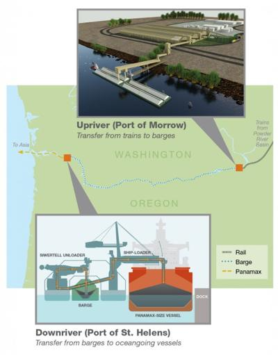 Ambre Energy proposed terminal