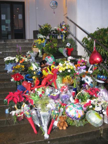 Rainier City Hall steps